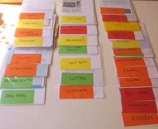 L-mapjes met etiket