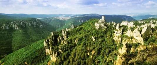 Het landschap van de Aveyron en Lozère (Premium)